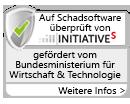 Auf Schadsoftware überprüft von InitiativeS - Gefördert vom Bundesministerium für Wirtschaft & Technologie - Weitere Infos